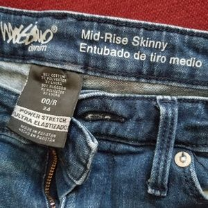 Mossimo Girls Size 0 skinny jeans
